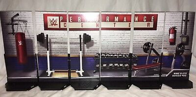 WWE Mattel Elite 50 Display Diorama Figure Stands Accessory Lot Of 6 Complete