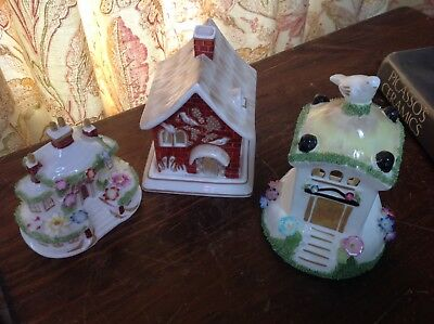 Vintage Coalport Cottages Keepers Dove Cafe Red House
