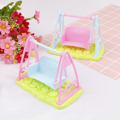 Swing Set For Doll Girl Doll Toy House Furniture Accessories LJ