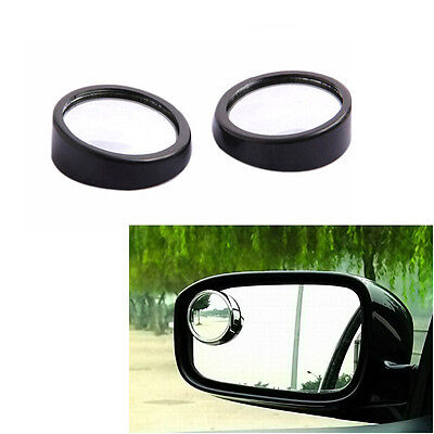 2X Car RearView Mirror Wide Angle Adjustable Blind Spot Side Parking Mirror