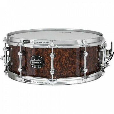 Mapex Armoury 36cm x 14cm The Dillinger Snare Drum with Chrome Hardware Walnut