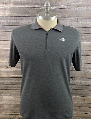 a08affc3f MENS THE NORTH Face Green 1/2 Zip Polo Shirt Vapor Wick Size XL ...