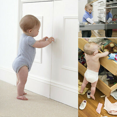 10pcs Child Safety Cabinet Locks Easy Install Invisible Drawers Spring Lock #ur2