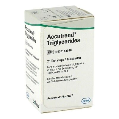 Accutrend Blood Triglyceride Test Strips Monitor Control 25strip