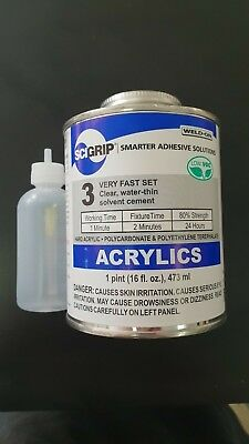 SCIGRIP Weld On #3 Acrylic Glue 473ml-Water thin- With FREE Applicator's