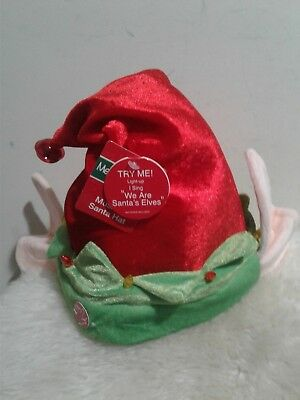 c124bc6d65613 CHRISTMAS ELF HAT Musical Animated Lights Singing DanDee with Ears ...