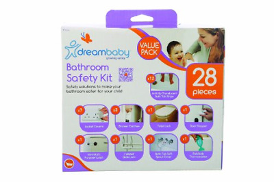 Dreambaby Bathroom Safety Kit Value PackWhite, 28 Pieces