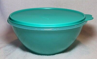 Tupperware CLASSIC WONDERLIER MIXING BOWL ~ Teal Green ~ 12 Cup ~ BRAND NEW