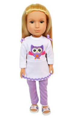 Brittany's Summer Owl Outfit with Sandals 36cm Doll Clothes Compatible with