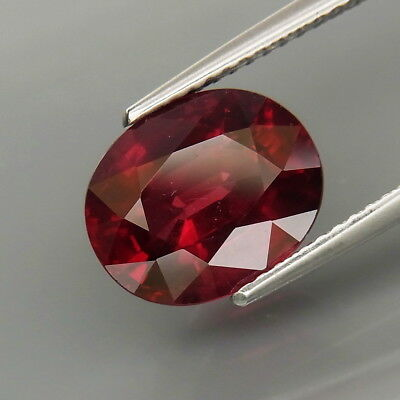 4.61Ct.Very Good Color&Full Fire! Natural Cherry Red Rhodolite Garnet Africa