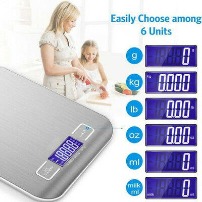 Kitchen Scales Electronic Food Weighing Scale Digital Measuring Gram Accurate