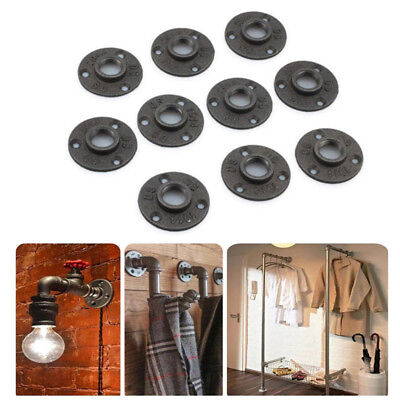10pcs 3/4'' Malleable Threaded Floor Flange Iron Pipe Fittings Wall Mount Plate