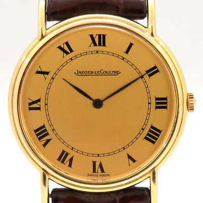 Jaeger Lecoultre 9220.21 Watch Round Cal 895 Antique Vintage Gold Used Rare