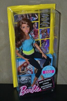 Brand New Barbie Doll Made To Move Yoga Barbie Brunette Damaged Box
