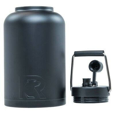 (One Gallon, Black) - RTIC Double Wall Vacuum Insulated Stainless Steel Jug
