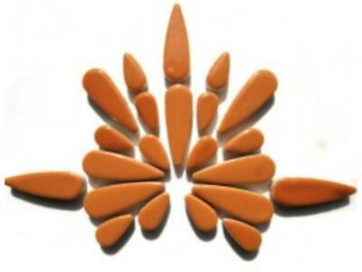 Tan Ceramic Teardrops - Mosaic Tiles Supplies Art Craft