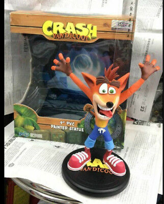 NEW Crash Bandicoot PVC Painted Statue 9in First 4 Action Figure Toy Doll