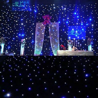 6*3M LED Stage Star Backdrop Wedding Party Curtain Retardant Backdrops AC90-240V