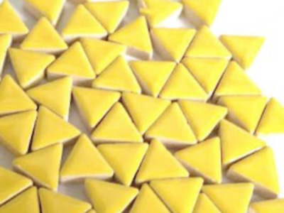 Yellow Ceramic Triangles - Mosaic Tiles Supplies Art Craft
