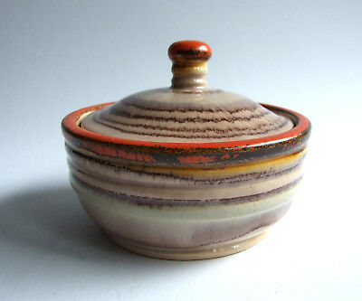 German Pottery J.W.Remy Höhr Deckeldose lidded box Keramik 1930 Art Deco 3111