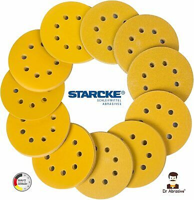125mm Sanding Discs Pads 8 Hole Orbital 5inch Sandpaper NORTON Hook and Loop