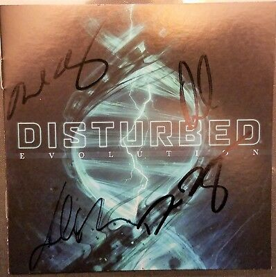 Disturbed band Signed Autographed Evolution CD booklet with CD