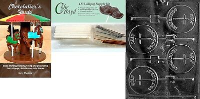 (+50 Stx/Bags/Bk) - Cybrtrayd Holy Communion Lolly Chocolate Candy Mould with