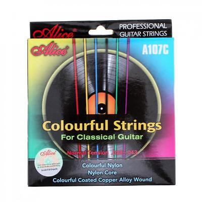 6pcs/set Colorful Strings Classical Guitar Strings 028 - 043 inch Copper Alloy