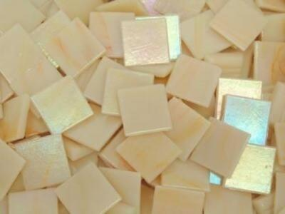 Apricot Cream Iridised Glass Mosaic Tiles 2cm - Art Craft Supplies