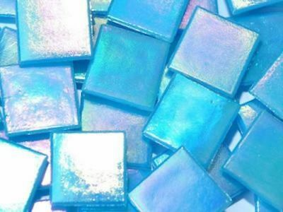 Blue Iridised Glass Mosaic Tiles 2cm - Art Craft Supplies