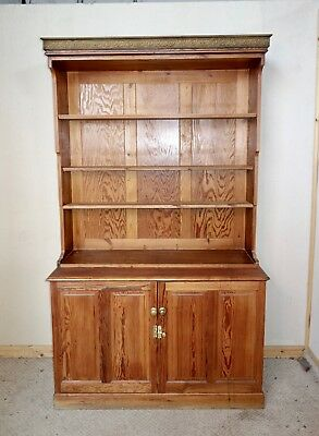 Large & Solid Pitch Pine Dresser Bookcase, nationwide delivery