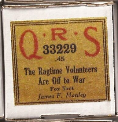 Pianola Roll (recut) The Ragtime Volunteers are off to War