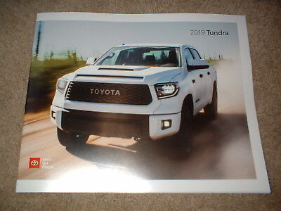 2019 Toyota Tundra Factory Sales Brochure NEW