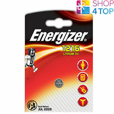 Energizer Cr1216 Lithium Battery 3V Cell Coin Button Exp 2023 New