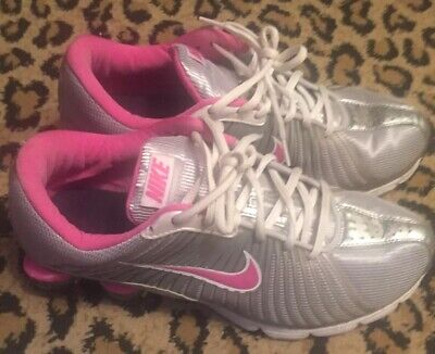 NIKE SHOX EXPERIENCE Zoom White Running Shoes 318685-161 Womens Size ... 9cce5d329