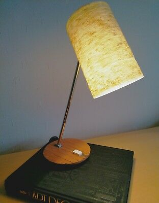 1950s Modernist - DECO/BAUHAUS style German table lamp with fibreglass shade