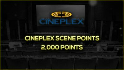 [LIMITED STOCK] Cineplex Theaters | 2,000 Points | Same Day Delivery