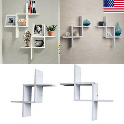 Marvelous Reversed Criss Cross Wall Shelf Set Of 2 Floating Home Download Free Architecture Designs Scobabritishbridgeorg