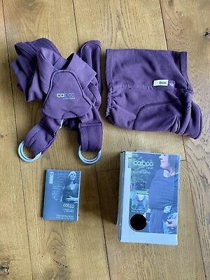 Caboo Baby Carrier Organic Cotton Blend (Huckleberry). Excellent condition.