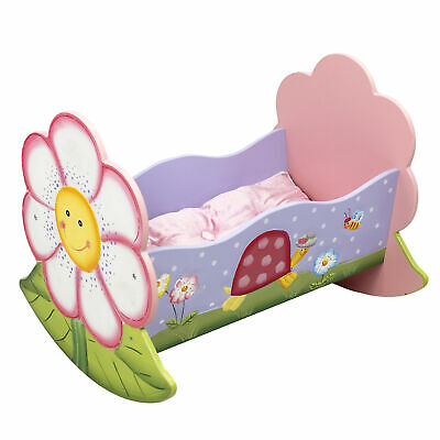 Fantasy Fields - Magic Garden Hand Crafted Rocking Bed Doll Cradle W-7477A