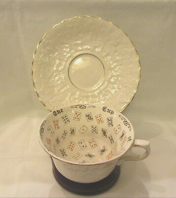 1930's Cup of Knowledge Teacup & Saucer Alfred Meakin Fortune Telling