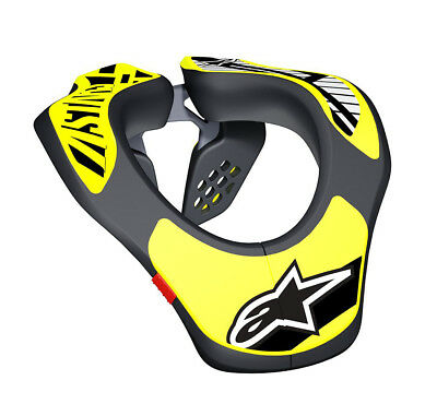 Alpinestars Youth Neck Support for Motorcross / MX / Enduro - One Size Yellow