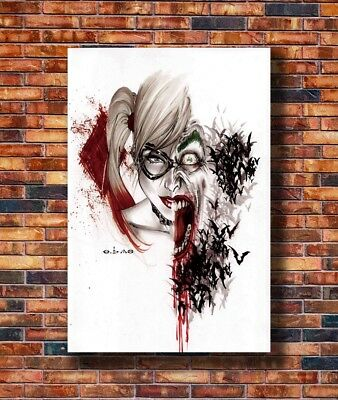 T2027 36 Silk Poster Harley Quinn and Joker Suicide Squad Superheroes Art Print
