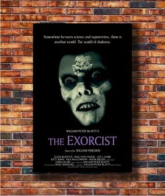 THE EXORCIST Classic Horror Movie Canvas Poster Art Prints Picture 8x12 24x36
