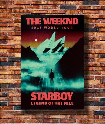 T-589 Art Poster The Weeknd 2017 World Tour Starboy Music Hot Silk 24x36 27x40IN