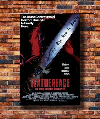 T2150 36 Poster LEATHERFACE- The TEXAS CHAINSAW MASSACRE III 3 Movie Horror Art