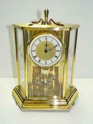 Vintage Howard Miller Geneva 612-455 Brass Anniversary Carriage Clock Germany