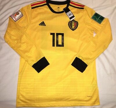 Eden Hazard Jersey Belgium World Cup 2018 Away Kit Adidas (New With  Tags)Chelsea 3583fed397f91