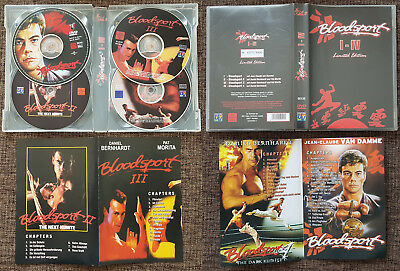 JCVD Jean-Claude Van Damme BLOODSPORT 1-4 COLLECTION DVD Set Limited Edition