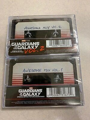 AWESOME MIX VOL 1 + 2 Guardians of the Galaxy Soundtrack Cassette Official